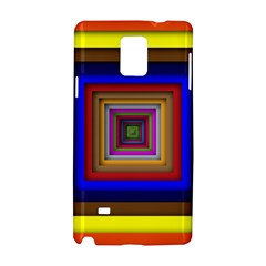 Square Abstract Geometric Art Samsung Galaxy Note 4 Hardshell Case