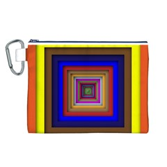Square Abstract Geometric Art Canvas Cosmetic Bag (L)