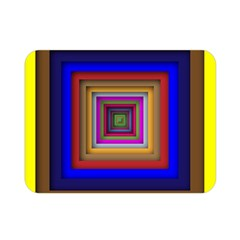 Square Abstract Geometric Art Double Sided Flano Blanket (mini)