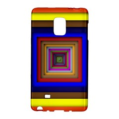 Square Abstract Geometric Art Galaxy Note Edge