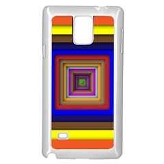Square Abstract Geometric Art Samsung Galaxy Note 4 Case (white)