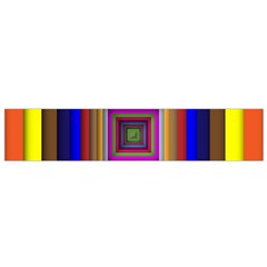 Square Abstract Geometric Art Flano Scarf (small)