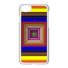 Square Abstract Geometric Art Apple Iphone 7 Seamless Case (white)