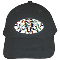 Damask Decorative Ornamental Black Cap