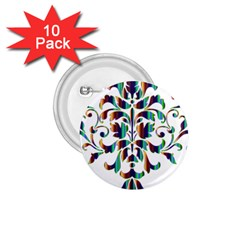 Damask Decorative Ornamental 1.75  Buttons (10 pack)