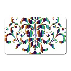 Damask Decorative Ornamental Magnet (rectangular)