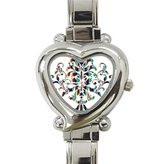 Damask Decorative Ornamental Heart Italian Charm Watch