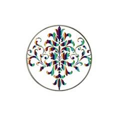Damask Decorative Ornamental Hat Clip Ball Marker (4 Pack)