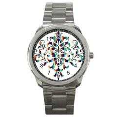 Damask Decorative Ornamental Sport Metal Watch