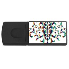 Damask Decorative Ornamental Usb Flash Drive Rectangular (4 Gb)