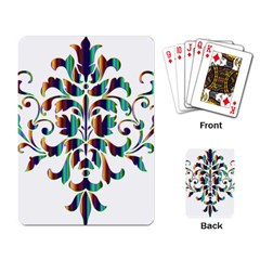 Damask Decorative Ornamental Playing Card