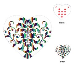 Damask Decorative Ornamental Playing Cards (heart)