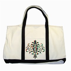 Damask Decorative Ornamental Two Tone Tote Bag