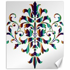 Damask Decorative Ornamental Canvas 20  X 24