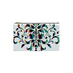 Damask Decorative Ornamental Cosmetic Bag (Small)