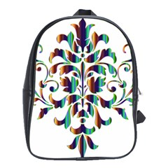 Damask Decorative Ornamental School Bags(large)