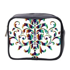 Damask Decorative Ornamental Mini Toiletries Bag 2 Side