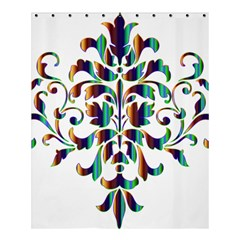 Damask Decorative Ornamental Shower Curtain 60  X 72  (medium)