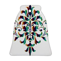 Damask Decorative Ornamental Bell Ornament (two Sides)
