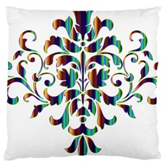 Damask Decorative Ornamental Large Cushion Case (One Side)