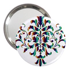 Damask Decorative Ornamental 3  Handbag Mirrors