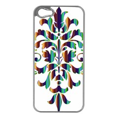 Damask Decorative Ornamental Apple Iphone 5 Case (silver)