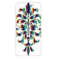 Damask Decorative Ornamental Apple Iphone 5 Seamless Case (white)