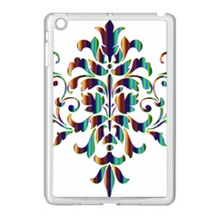 Damask Decorative Ornamental Apple Ipad Mini Case (white)