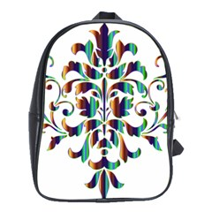 Damask Decorative Ornamental School Bags (xl)