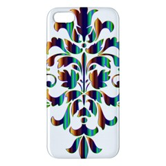 Damask Decorative Ornamental Apple iPhone 5 Premium Hardshell Case