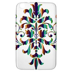 Damask Decorative Ornamental Samsung Galaxy Tab 3 (8 ) T3100 Hardshell Case