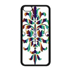 Damask Decorative Ornamental Apple Iphone 5c Seamless Case (black)