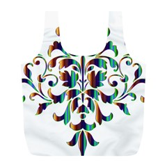 Damask Decorative Ornamental Full Print Recycle Bags (l)