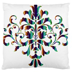 Damask Decorative Ornamental Standard Flano Cushion Case (two Sides)