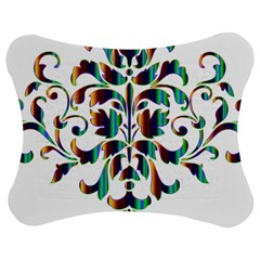 Damask Decorative Ornamental Jigsaw Puzzle Photo Stand (bow)