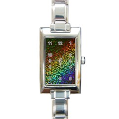 Construction Paper Iridescent Rectangle Italian Charm Watch