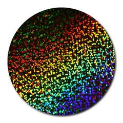 Construction Paper Iridescent Round Mousepads