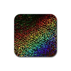 Construction Paper Iridescent Rubber Square Coaster (4 pack)