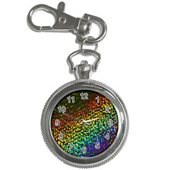 Construction Paper Iridescent Key Chain Watches