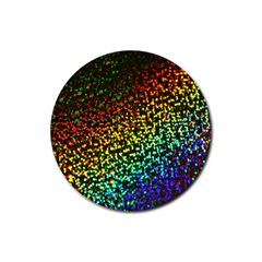 Construction Paper Iridescent Rubber Round Coaster (4 Pack)