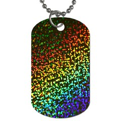 Construction Paper Iridescent Dog Tag (two Sides)