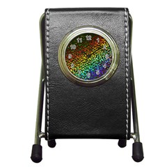 Construction Paper Iridescent Pen Holder Desk Clocks