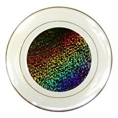 Construction Paper Iridescent Porcelain Plates