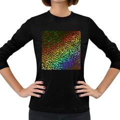 Construction Paper Iridescent Women s Long Sleeve Dark T Shirts