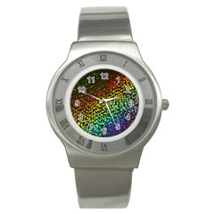 Construction Paper Iridescent Stainless Steel Watch