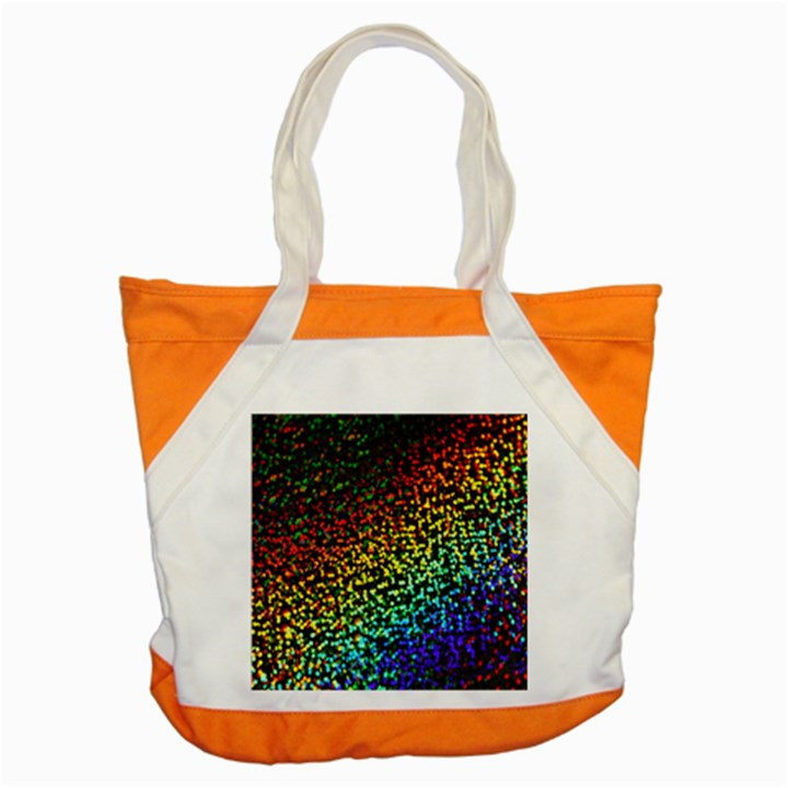 Construction Paper Iridescent Accent Tote Bag