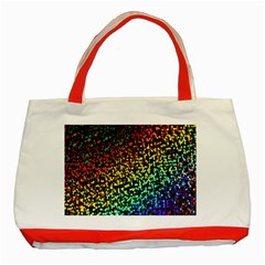 Construction Paper Iridescent Classic Tote Bag (Red)