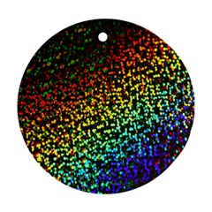 Construction Paper Iridescent Round Ornament (two Sides)