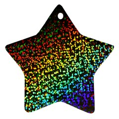 Construction Paper Iridescent Star Ornament (two Sides)