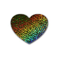 Construction Paper Iridescent Rubber Coaster (heart)
